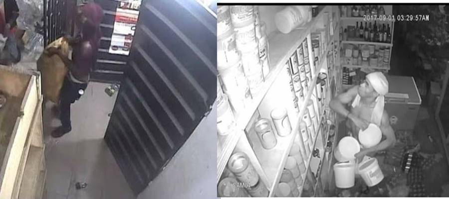 Thieves caught on CCTV burgling Akwa Ibom supermarket [PHOTOS]