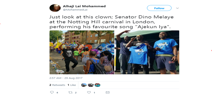 Dino Melaye is a clown – Lai Mohammed
