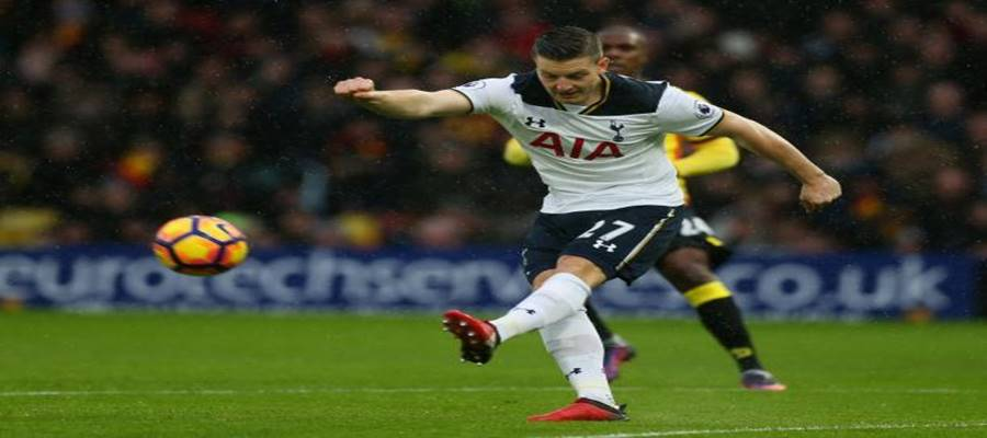 Stoke Sign Wimmer From Tottenham For £18m